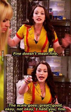 I wish more people understood this will say I'm fine to someone and they with only say oh good, in my mind in going:  NOTICE HOW I REALLY FEEL AND READ THE SIGNS