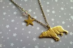 The Bear and the North Star Necklace by TheMysticalPug on Etsy, £9.50
