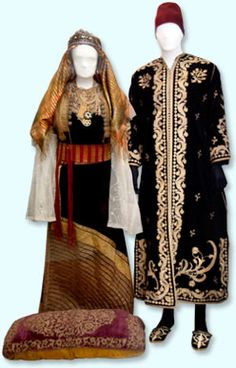 Traditional wedding costumes from Morocco, early 20th century (detail) © Museo Sefardí de Toledo, photograph by Rebeca García Merino