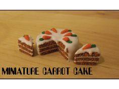Tutorial: Miniature Polymer Clay Carrot Cake (+playlist)
