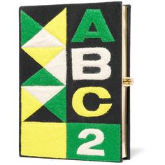 Olympia Le-Tan ABC felt-appliquéd canvas clutch (€655) ❤ liked on Polyvore featuring bags, handbags, clutches, black, canvas purse, black canvas purse, clasp purse, black handbags and felt purse