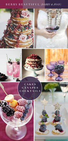Berry Beautiful - Cakes, Canapes and Cocktails | Gorgeous Wedding Inspiration for Autumn Weddings by Darby and Joan www.darbyandjoanvintage.co.uk