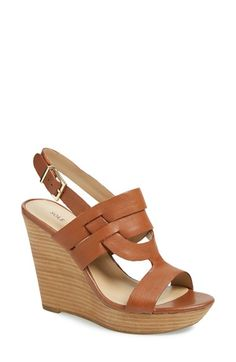 Sole Society 'Jenny' Slingback Wedge Sandal (Women) available at #Nordstrom