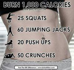 Burn 1000 calories: