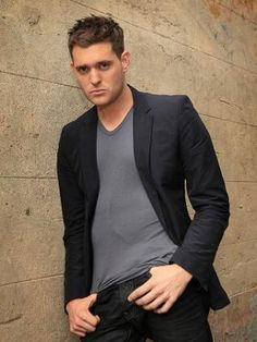 Michael Buble <3 Love to see him in a movie, I think he's hilarious!