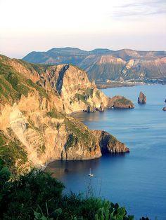Lipari, Aeolian Islands, Sicily, Italy Rode a bike around this island Fall 2003