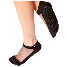 Shashi Star Cool Feet Grip Socks (€31) ❤ liked on Polyvore featuring intimates, hosiery, socks, dot socks, yoga socks, star socks, shashi and polka dot hosiery