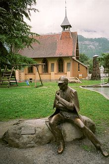 Meiringen in Switzerland.  This is the Sherlock Holmes Museum.