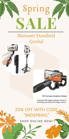 The 3D Smart Bluetooth Handheld Smooth Gimbal is the first innovative, integrated premium selfie stick tripod in the world. Just take it on the go to enjoy selfies or take group photos. 3d Fantasy, Bluetooth Remote, Selfie Stick, Group Photos, Spring Sale, Camera Accessories, Tech Gadgets, Tripod, Selfies
