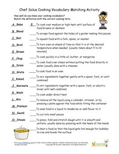 food word searches | Cooking Terms Word Search | Girl Scouts ...