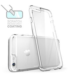 Halo Scratch Resistant Hybrid Clear Case with TPU Bumper for iPhone 6 Plus