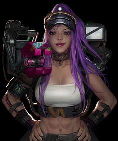 by snod snow Fantasy Girl, Female Images, Pin Up Girls, Cyberpunk, Character Art, Wonder Woman, Cosplay, Snow, Superhero