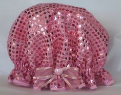 So Pretty shower caps are a wonderful unique and practical gift idea, as well as being a pamper product for yourself. Pink Party Dresses, Shower Cap, Practical Gifts, Pink Sequin, Everything Pink, Pretty In Pink, Sewing Crafts, Sequins, Unique
