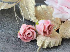#Lampwork #Earrings #Flower #Floral #Glass #JewelryBeadsByKatie #Artisan #Handmade #Jewelry
