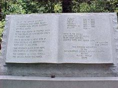 The Hatfield-McCoy Feud - monument to six McCoy children killed in the feud
