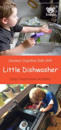 #Knoala Early Preschooler activity 'Little Dishwasher' helps little ones develop Cognitive, Motor and Sensory skills. Click for simple instructions
