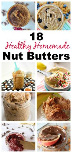 Don't Wanna pay 26 dollars for a jar of almond butter? Make these easy, healthy and delcious DIY Nut Butters in your own home and save lots of money! With flavors ranging from Birthday Cake to Pumpkin Salted Caramel, these Nut Butte Raw Food Recipes, Snack Recipes, Dessert Recipes, Cooking Recipes, Snacks, Nut Recipes, Desserts, Recipies, Easy Butter Recipe