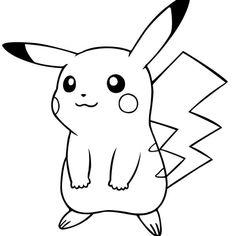 Dibujos Pikachu para dibujar, imprimir, colorear y recortar fácilmente Pikachu Tattoo, Pikachu Coloring Page, Pokemon Coloring Pages, Pikachu Pikachu, Cartoon Drawings, Art Drawings, Cute Pokemon, Doodles, Sketches