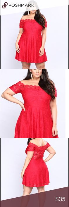 Brand new Lace lined skater dress Fashion Nova 2x How gorgeous is this dress? It's a brand new, lipstick red Fashion Nova dress that was sold out because of how popular the design was. 2x, lace head to toe and highly stylish. 92% nylon, 8% spandex lining, 100% polyester 👗👗👗👗👗👗👗👗👗🌹🌹🌹🌹🌹 Fashion Nova Dresses