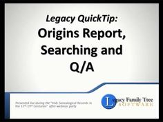 20 Best Genealogy - Legacy Family Tree Tutorials images in