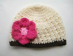 free Crochet Bearded Beanie Hat Pattern | the Love of Crochet Along: Fall Beanie with Flower, Crochet Pattern ...
