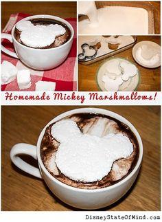 Homemade Marshmallows, shaped like Mickey Mouse