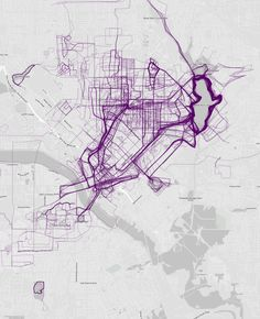 Dallas, Texas | 21 Maps That Show How People Run In Different Cities