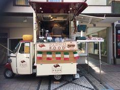 Parma Food Piaggio Van selling typical products from Parma in Stuttgart  #piaggiovan #foodtruck #ham #salami