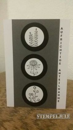 Trauerkarte - Stampin up - Genial vertikal - Flowering Fields