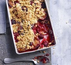 Spiced Plum and Blackberry Crumble Making this with my fresh fruits from the garden.