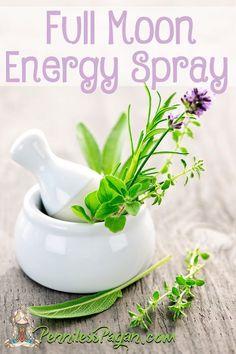 Full Moon Energy Spray to cleanse negative energy.