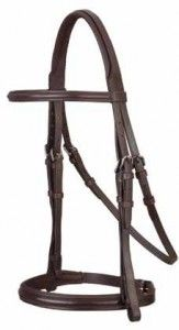 Stubben Cut Crown Anthracite Padded Snaffle Bridle | HorseLoverZ