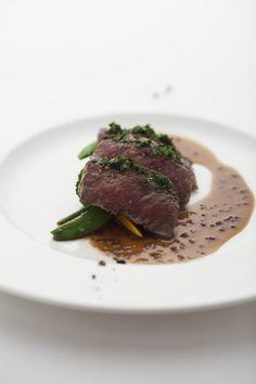 牛ロース肉のグリル マスタードソース ベジタブルロースト(コースメニューA)