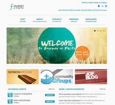 simple modular design with texture overlays and vibrant colours - Church Website Design Ideas