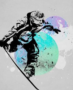 SNOWBOARD SPLASH - Posters that Stick (adhesive wall art stickers) at Wheatpaste Art Collective