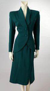 Lilli Ann Green Gabardine Suit ~ 1940's  emmeraaalldld