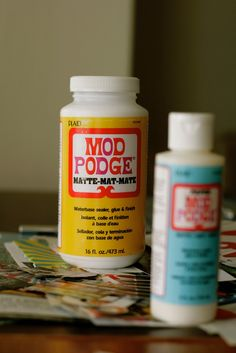 """Mod Podge seems to be one of those crafting tools that is handed out in the """"Welcome to Crafting"""" goody bag along with an X-acto knife and a cutting board"""