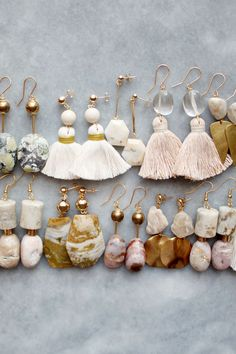 Ocean jasper, riverstone and marble earrings | the vamoose