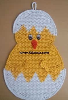 This Pin was discovered by Tra Crochet Mittens Free Pattern, Crochet Scarf Easy, Baby Afghan Crochet, Crochet Animal Patterns, Easter Crochet, Applique Patterns, Crochet Kitchen, Crochet Home, Crochet Gifts