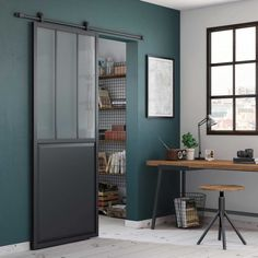 Sliding door: 31 original and clever ideas Home And Living, Living Room, Design Your Home, Model Homes, Contemporary Decor, Tall Cabinet Storage, Home Furniture, Sweet Home, New Homes