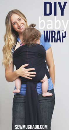 I made this DIY Moby style baby wrap shortly before Hattie was born, but wanted to wait until she arrived to post about it so you could see it in action. Well, apparentlyI'm good at the waiting pa...