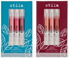 Lip Glaze Trios - Harvest and Foliage. Inspired by the change of seasons and vibrant autumn colors, each Lip Glaze Trio contains an assortment of Stila's most popular lip gloss in three gorgeous hues that will add a splash of color and glossy shine to lips. The Foliage set contains one best-selling shade and two new limited-edition shades to keep your lips glossy and polished with one click of Stila's iconic pen.