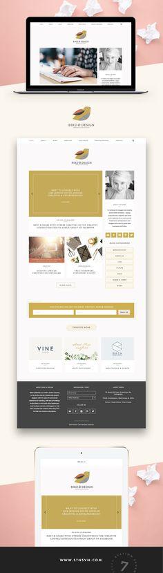 WordPress theme | Minimal web design | Business blog design | Station Seven | Click through to buy!