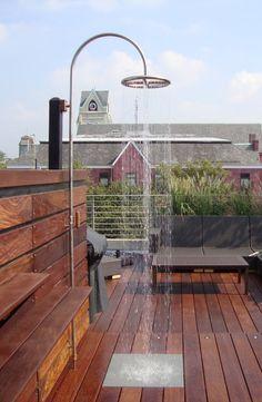 Great rooftop outdoor shower