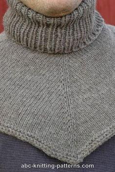 ABC Knitting Patterns - Biker's Cowl / Dickie Knitting Stitches, Knitting Designs, Knitting Patterns Free, Knit Patterns, Free Knitting, Baby Knitting, Mens Scarf Knitting Pattern, Crochet Cowl Free Pattern, Knit Crochet