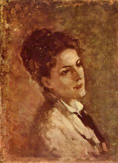 Portrait of the Alexandrina Filionescu - Nicolae Grigorescu Vintage Wall Art, Vintage Walls, Potpourri, Human Pictures, Amazing Paintings, Art Themes, Portrait Art, Great Artists, New Art