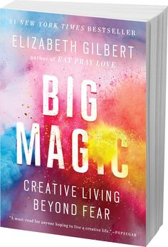 In Big Magic, Elizabeth Gilbert (author of Eat, Pray, Love) offers her tips and advice to help readers live a fulfilling creative life. Marie Forleo, Rhonda Byrne, Eat Pray Love, Malcolm Gladwell, New Books, Good Books, Books To Read, Anais Nin, Frases