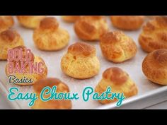 From profiteroles to Croquembouche, my Easy Choux Pastry Recipe will have you making adorable and delicious light puffs in no time! Easy Pastry Recipes, Puff Pastry Desserts, Choux Pastry, Cake Recipes, Dessert Recipes, Fancy Desserts, Bread Recipes, Quiche, Bigger Bolder Baking
