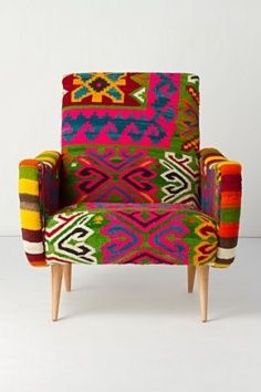 tribal chic design decor kuba cloth bedroom chair living room | Froghill Designs Blog