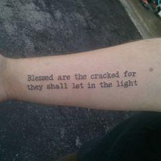 literary tattoo- I like the quote